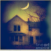 Haunted House Art Print by Jill Battaglia