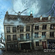Haunted House Art Print by Jutta Maria Pusl