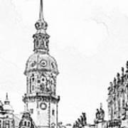 Hausmannsturm In Dresden Germany Art Print by Christine Till