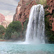 Havasu Waterfall Art Print by Chris Hill