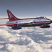 Hawker Hunter Art Print