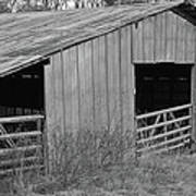 Hay Barn In The Back 40 Art Print