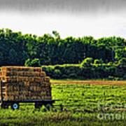 Hay Ride Art Print