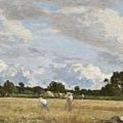 Haymaking Art Print by Eugene Louis Boudin