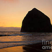 Haystack Reflections Art Print