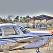 Hdr Airplane Looks Plane From Afar Under Canopy Art Print by Pictures HDR