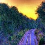 Hdr- Railroad Tracks Art Print
