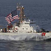 He U.s. Coast Guard Cutter Adak Art Print