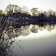 Hearns Pond Reflection Art Print