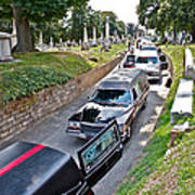 Hearses At Laurel Hill Cemetery Art Print