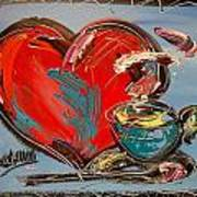 Heart Coffee Cup Art Print
