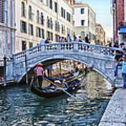 Heart In Venice Art Print