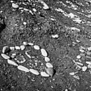 Heart Symbols Made Out Of Pebbles On The Beach At Aphrodites Rock Petra Tou Romiou Art Print by Joe Fox