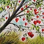Hearts Grow On Trees Art Print