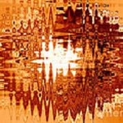 Heat Wave - Abstract Art Art Print