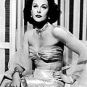 Hedy Lamarr In Promotional Photo For My Art Print by Everett