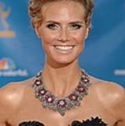 Heidi Klum  Wearing A Lorraine Schwartz Art Print by Everett