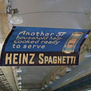 Heinz Spaghetti Train Ad Signage Digital Art Art Print