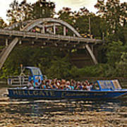 Hellgate Jet Boat And Caveman Bridge Art Print