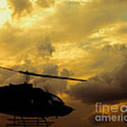 Helocopter In Clouds Art Print