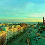 Helsingborg And Oresund Beyond Art Print