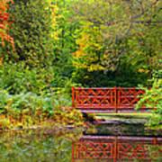 Henes Park Pond Bridge Art Print
