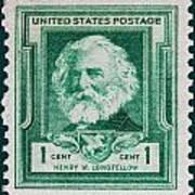Henry W Longfellow Postage Stamp Art Print