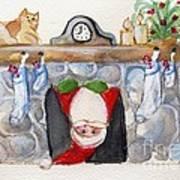 Here Comes Santa Claus Art Print