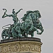 Heros Square Statue Art Print