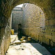 Hezikiahs Tunnel Pool Of Shiloah Art Print