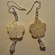 Hibiscus Hawaii Flower Earrings Art Print by Jenna Green
