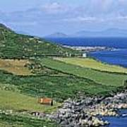 High Angle View Of A Coastline, Beara Art Print