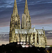 High Cathedral Of Sts. Peter And Mary In Cologne Art Print