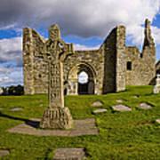 High Cross At Clonmacnoise, County Art Print
