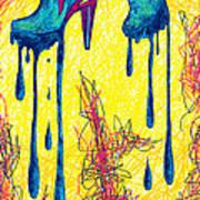 High Heels Abstraction Dripping Art Print