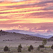 High Park Fire Larimer County Colorado At Sunset Art Print
