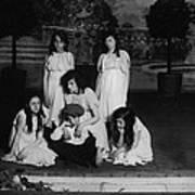 High School Play, Original Caption Miss Art Print