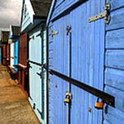 Highcliffe Beach Huts Art Print