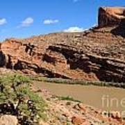 Hiking The Moab Rim Art Print