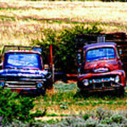 Hill Billy Used Auto Sales Art Print by Andrea Camp