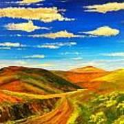 Hill View Valley Art Print