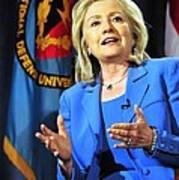 Hillary Clinton, Us Secretary Of State Art Print