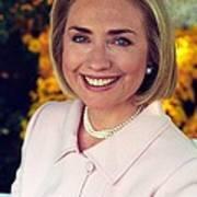 Hillary Rodham Clinton In A White House Art Print