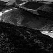Hills Of Light And Darkness Art Print