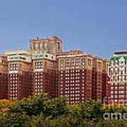 Hilton Chicago And Blackstone Hotel Art Print by Christine Till