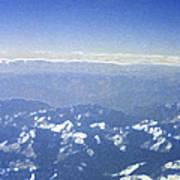 Himalayas Blue Art Print