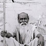 Hindu Holyman In Benares Art Print