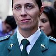Hispanic Columbus Day Parade Nyc 11 9 11 Female Spanish Police O Art Print