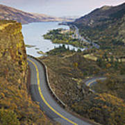 Historic Columbia River Highway Print by Alan Majchrowicz