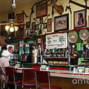 Historic Niles District In California Near Fremont . Bronco Billys Pizza Palace . 7d10707 Art Print by Wingsdomain Art and Photography